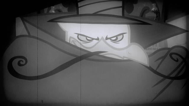 File:Gustave as a silent film era villain S2E24.png