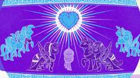 Vase illustration of the Crystal Heart getting stronger S6E1