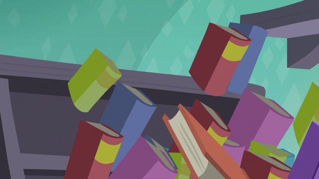 File:More books pulled toward the black hole S7E1.png