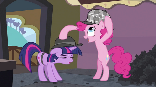 File:Pinkie Pie switching hats S2E24.png