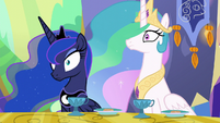 Princess Celestia and Princess Luna are shocked S6E5