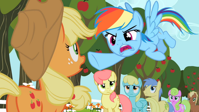 File:Rainbow Dash pointing S02E15.png