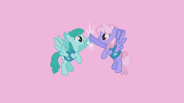 File:Sprinkle Medley and Rainbowshine high-hoof S1E11.png