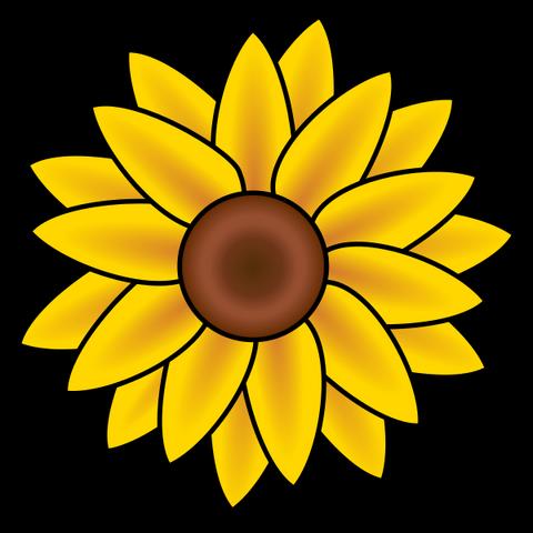 File:Sunflower clip art.png