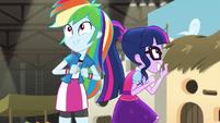 Twilight Sparkle and Rainbow Dash starstruck EGS2