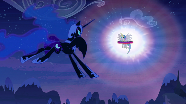 File:Nightmare Moon approaches Princess Celestia S4E02.png