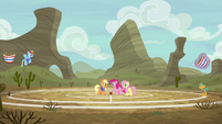 Ponyville buckball teams having a practice game S6E18