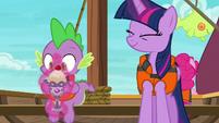 Twilight gives Spike an ice cream sundae S6E22