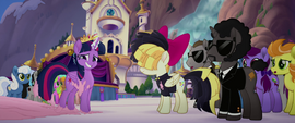 "Bodyguard pony 1 ""you have visual on buttercream?"" MLPTM"