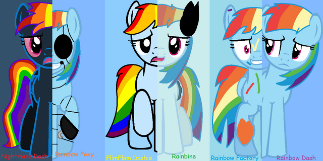 File:FANMADE Rainbow Dash's Evil Side (Some Of Them).png