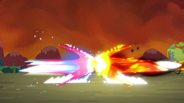 File:The magic beams of Twilight and Tirek about to collide S4E26.png