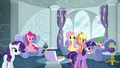 Main five and Spike in Rainbow's house S6E7.png