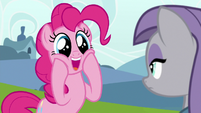 Pinkie Pie becoming overjoyed S7E4