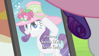 Rarity posing in front of a mirror S4E22