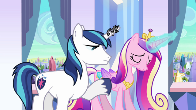 File:Shining Armor and Cadance S3E01.png
