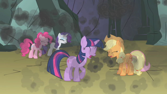 File:Twilight and friends coughing smoke S1E07.png