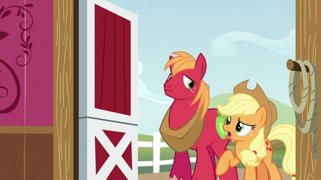 File:Applejack starts talking to Apple Bloom S6E23.png