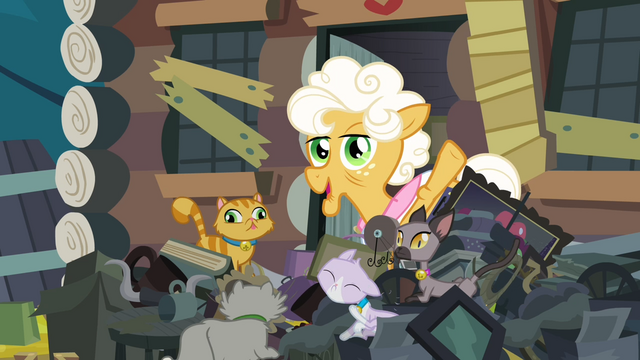 File:Goldie waving her hoof S4E09.png