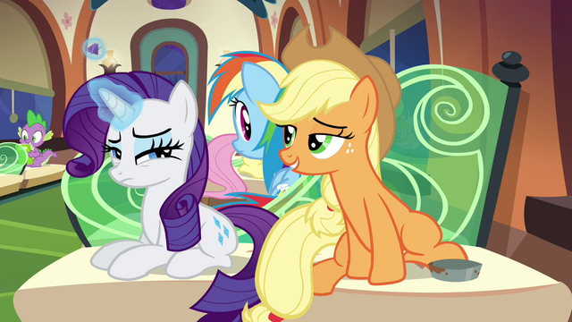 File:Applejack trying to one-up Rarity S4E22.png
