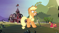 Applejack and family pulling at vines S4E01.png