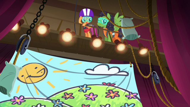 File:Scootaloo and bungee jump pony on the rafters S6E4.png
