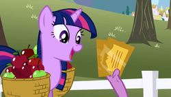 Twilight Sparkle overjoyed about tickets S1E03