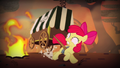 Apple Bloom dodging flames S4E17.png