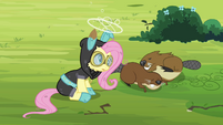 Fluttershy head spinning S3E05