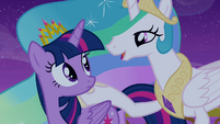 Princess Celestia starts singing S4E25
