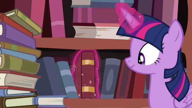 File:Twilight in front of bookshelf S4E09.png