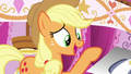"Applejack ""did they have to roll her down the runway?!"" S7E9.png"