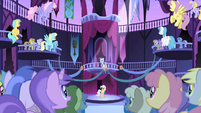 Everyone gasps at Celestia's disappearance S1E01