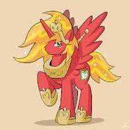 FANMADE female Big Mac Alicorn