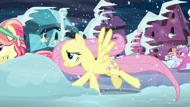 File:Fluttershy and Crystal pony run S6E2.png