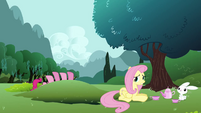 Fluttershy weak smile S3E3