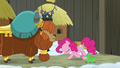 Pinkie Pie bowing to Prince Rutherford S7E11.png