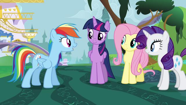File:Rainbow Dash encourages Twilight S4E01.png