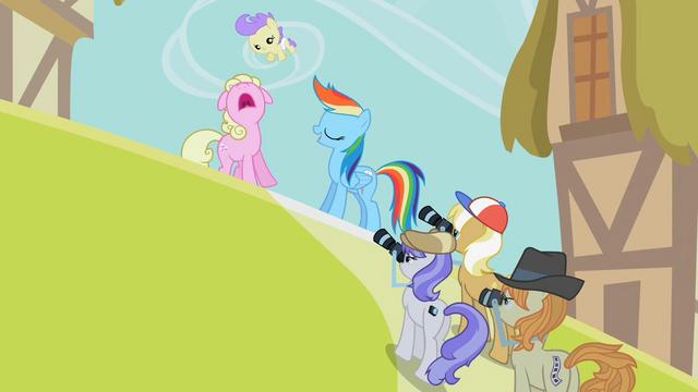 File:Rainbow Dash posing for photos S2E08.png