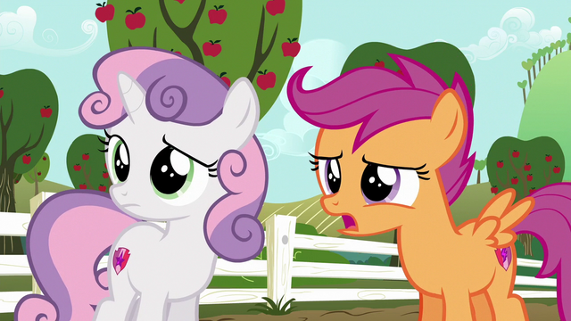 "File:Scootaloo ""painting on a fake cutie mark"" S6E19.png"