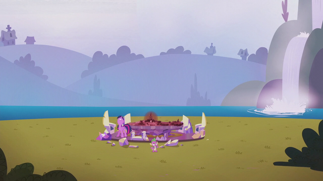 File:Twilight and Spike find the Castle of Friendship gone S5E25.png