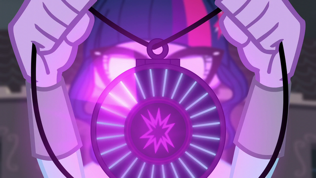 File:Twilight holds up her amulet as it glows EG3.png