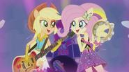 Applejack and Fluttershy rocking out EG2