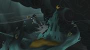 Arimaspi escapes the castle S5E8.png
