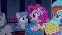 Pinkie Pie talking excited at Maud S5E7