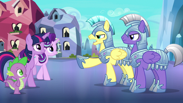 File:Royal guards stop Twilight and friends S6E16.png
