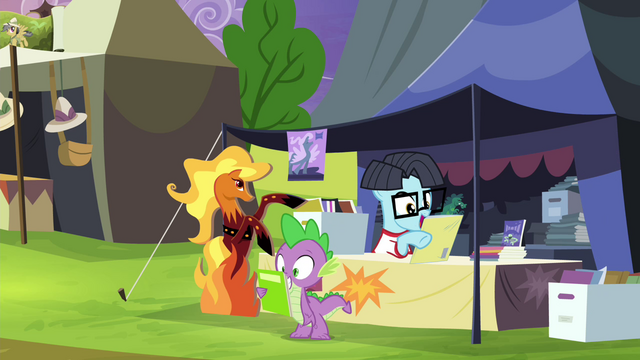 File:Spike and comic pony trade comics S4E22.png