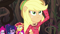 Applejack appears to protect Sunset and Twilight EG4.png