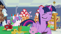 Flurry Heart tugging on Twilight's tail S7E3.png