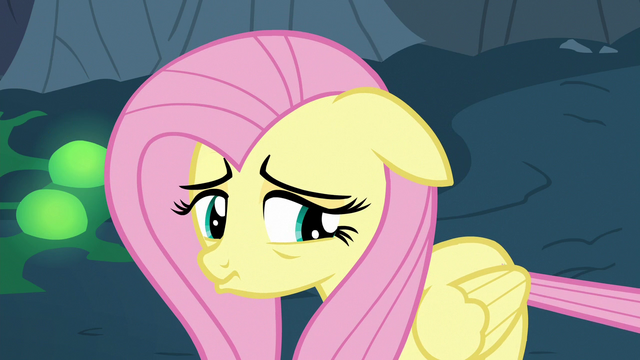 File:Fluttershy Changeling pouting sadly S6E26.png