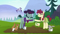 Hooffield mare and McColt stallion hoof-bump S5E23.png